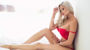 Sexy blonde in red from Heathrow escorts