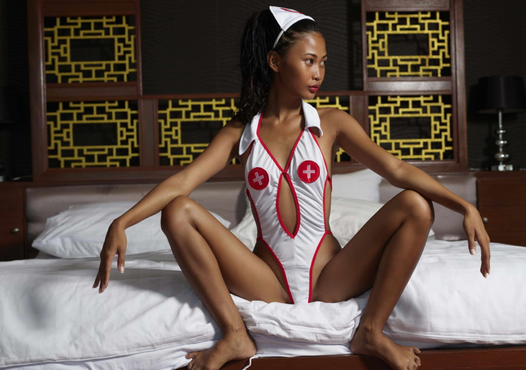 Stunning Asian In Nurse Costume